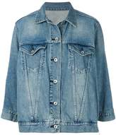 Sacai zipped peplum denim jacket