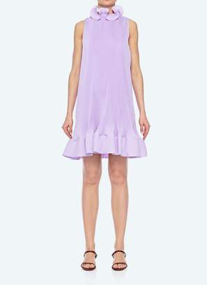 Tibi Pleated Short Sleeveless Dress