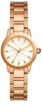 Tory Burch Gigi Rose Goldtone Stainless Steel Bracelet Watch