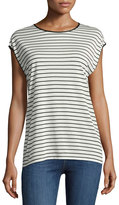 Rag & Bone Toni Striped Cap-Sleeve Tee