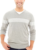 Claiborne Chest Stripe Sweater