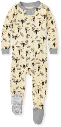 Burt's Bees Toucan Jungle Organic Baby Zip Front Snug Fit Footed Pajamas