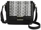 Merona Cross Body Bags Black/white Ikat Design