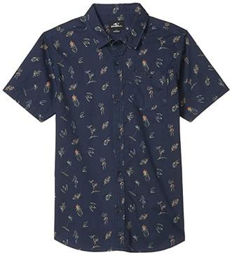 O'Neill Kids Kids Tame Short Sleeve (Big Kids) (Navy) Boy's Clothing