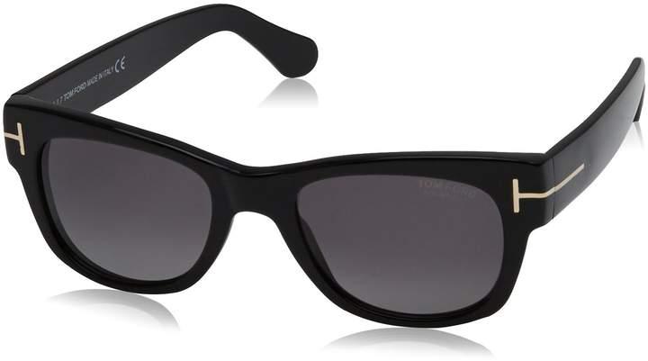 Tom Ford Men's Polarized Cary FT0058-01D-52 Square Sunglasses