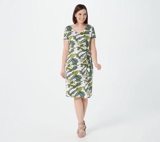 Belle By Kim Gravel Belle Beach By Kim Gravel Stretch Palm Print Knit Dress