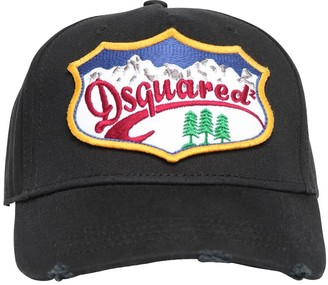 DSQUARED2 Patch Mountain Canvas Baseball Hat