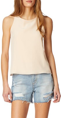 Habitual Nyssa Cross Back Silk Tank Top