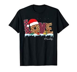 Buffalo David Bitton Love Nini Life Christmas Leopard And Plaid Grandma T-Shirt