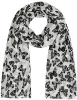 Yours Clothing Yoursclothing Plus Size Womens White Butterfly Print Scarf Lightweight Ladies