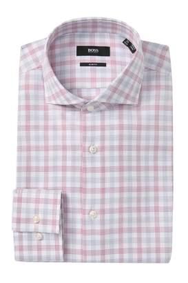 BOSS Jason Plaid Slim Fit Dress Shirt