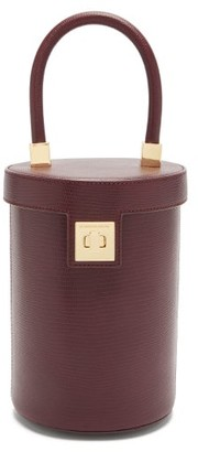 Sparrows Weave - The Cylinder Lizard-effect Leather Bag - Womens - Burgundy