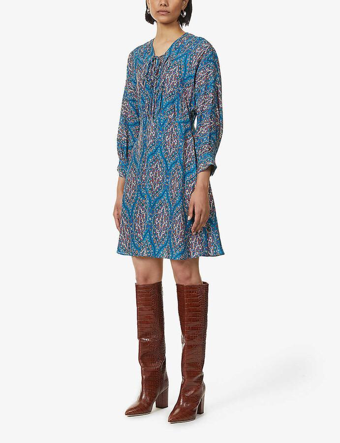 Sandro Kael patterned mini dress