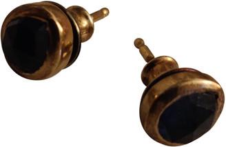 Monica Vinader Blue Yellow gold Earrings