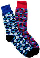 Jared Lang Geo Crew Socks - Pack of 2