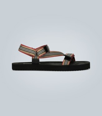 Burberry Icon Stripe webbing sandals