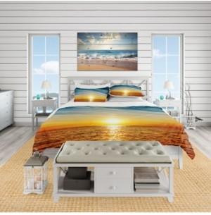 Design Art Designart 'Brilliant Texture Of Sea Currents' Beach Duvet Cover Set - Queen Bedding