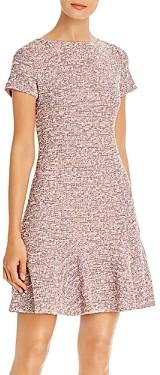Karl Lagerfeld Paris Tweed Flounced Sheath Dress