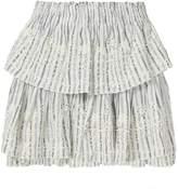 LoveShackFancy Ruffle Embroidered Mini Skirt
