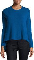 Neiman Marcus Cashmere Pullover Sweater, Blue