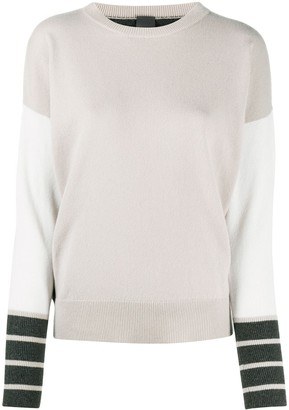 Lorena Antoniazzi Colour-Block Fine-Knit Jumper