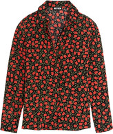Holly Fulton Rose-print silk crepe de chine shirt