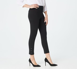 Joan Rivers Classics Collection Joan Rivers Regular Signature Ankle Pants with Snap Cuffs