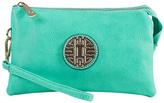 Mint Emblem Crossbody Clutch & Wristlet