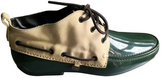 Vivienne Westwood Green Rubber Flats