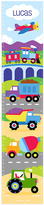 Olive Kids Trains & Trucks Personalized Growth Chart Decal