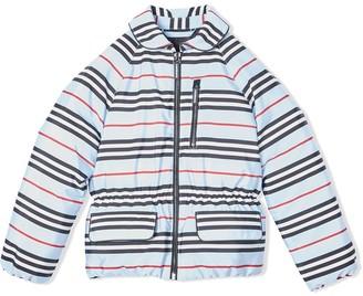 BURBERRY KIDS TEEN Icon Stripe shell jacket