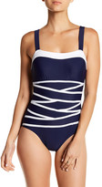 Nautica Soho Front Crossover One-Piece Swimsuit