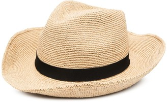 Prada Wide-Brim Raffia Hat