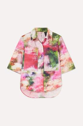 ADAM by Adam Lippes Floral-print Cotton-poplin Shirt - White