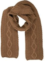 Carolina Herrera Cable Knit Blanket Scarf