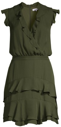 Parker Tangia Silk Ruffle Blouson Dress