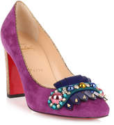 Christian Louboutin Oaxacana 85 purple suede pump