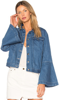 Edit Flute Sleeve Denim Jacket