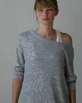 Deluxe Sequin Sweater in Light Heather Grey