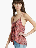 Lucky Brand Paisley Pintucked Tank