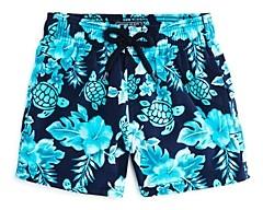 Vilebrequin Boys' Jirise Jii Turtle Print Swim Shorts - Little Kid Big Kid