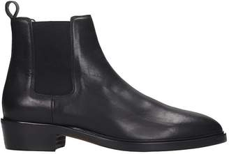 Hunter Royal Republiq Chelsea High Heels Ankle Boots In Black Leather