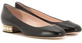 Nicholas Kirkwood Casati Pearl Embellished Leather Ballerinas
