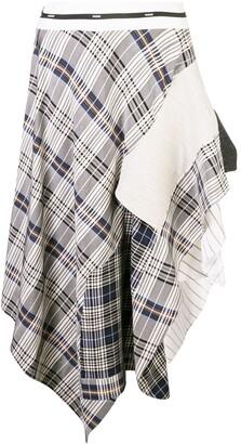 Monse Draped Plaid Jacket Skirt