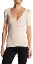 Versace Short Sleeve V-Neck Sweater