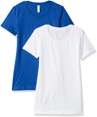 Clementine Apparel Women's Petite Plus Ideal Soft and Trendy Crew Neck Tee (Pack of 2)