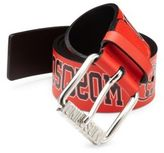 Moschino Graphic Printed Leather Belt