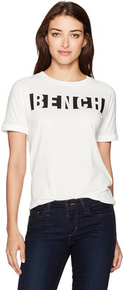 Bench Women's Block Stripe Logo Tee