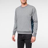 Paul Smith Men's Grey Marl Double-Face Jersey-Mesh Panelled Sweatshirt
