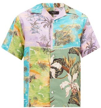 Amiri Patchwork Floral-print Short-sleeved Silk Shirt - Multi